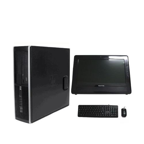 computador hp elite 8100 i5 8gb 120ssd monitor 15 polegadas