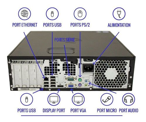 computador hp elite 8100 i5 8gb 1tb monitor 18 polegadas