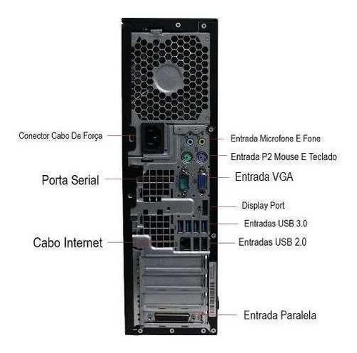 computador hp elite 8200 i5 8gb 500gb monitor 19 polegadas