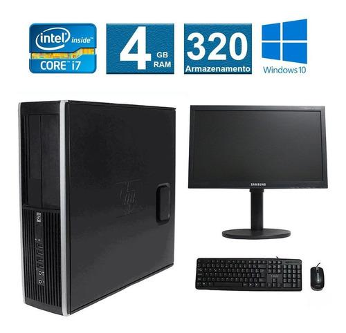 computador hp elite 8200 i7 4gb 320gb monitor 18 polegadas