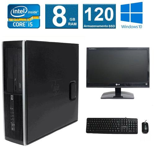 computador hp elite 8300 i5 8gb 120ssd monitor 19 polegadas