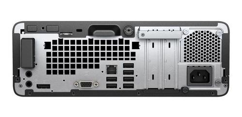 computador hp prodesk 400 g4 sff  i5 7500 4gb 500 dvdrw