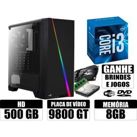 Computador I3 8gb 500gb Video Geforce 9800gt Wi-fi + Brindes