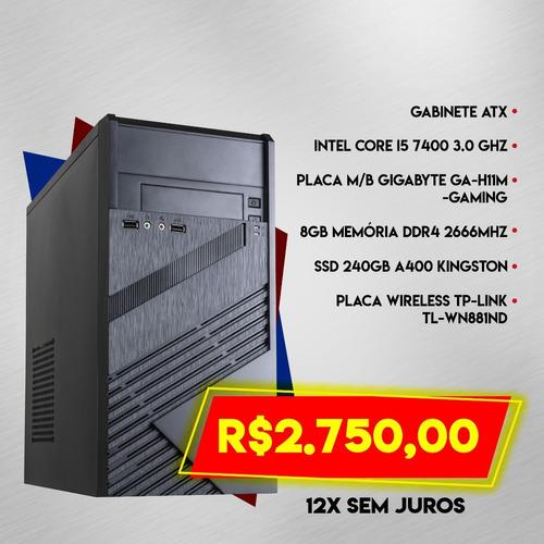 computador i5 7a geração 8gb ddr4 ssd 240gb pix90