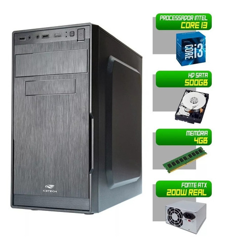 computador intel core i3 - 4gb - hdd 500gb - hdmi - novo