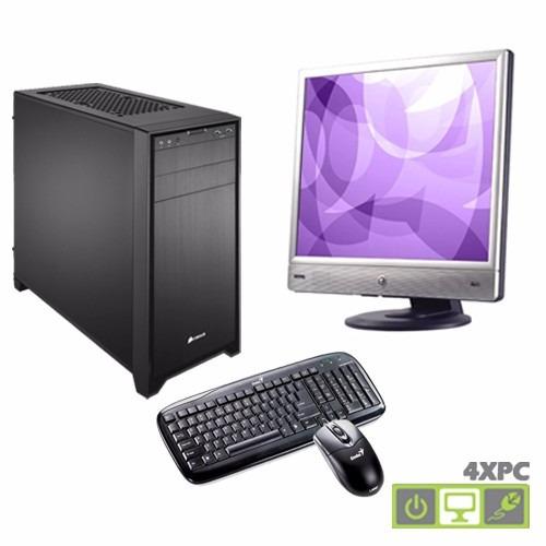computador intel dual core + monitor tienda fisica 4xpc