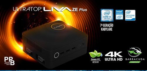 computador intel nuc liva ze i3 7100u 2.4ghz 4gb ssd 120gb