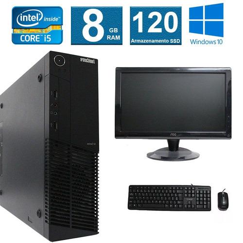 computador lenovo thinkcenter m92  i5 8gb 120ssd monitor 18