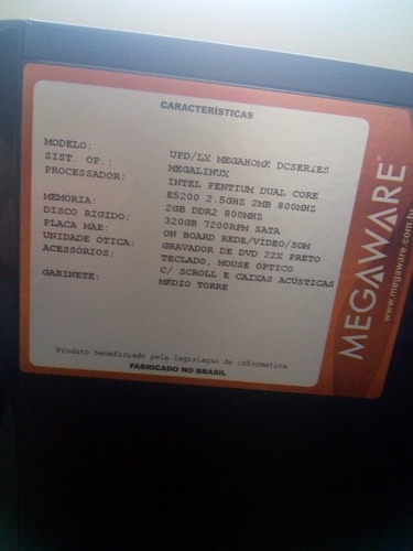 computador megaware intel pentium