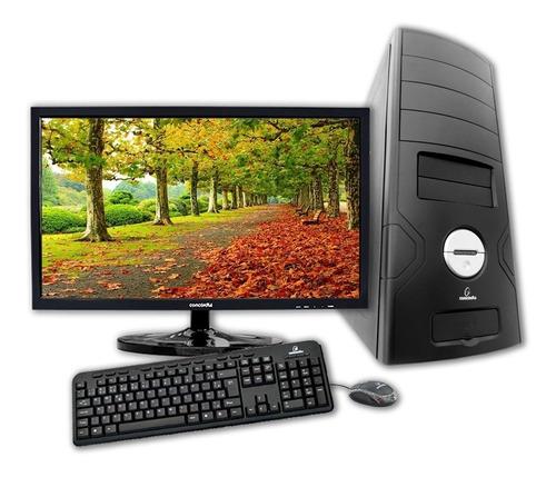 computador + monitor 19.5  concordia - core i7 8700 8gb ddr4