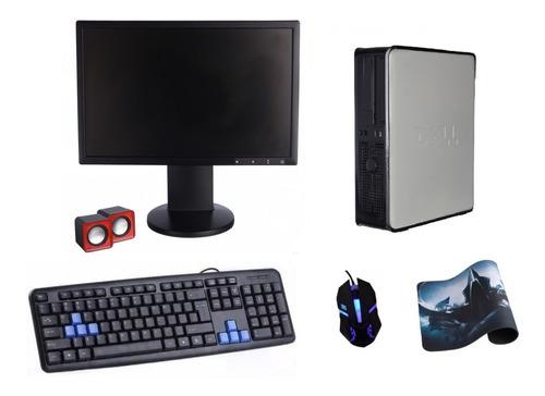computador novo completo cpu dell optiplex monitor lcd 19'' teclado mouse caixa de som