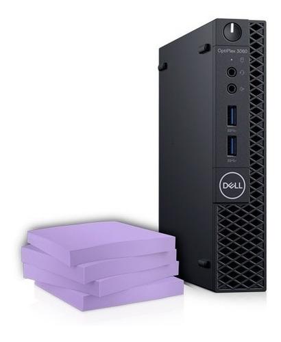 computador optiplex 3070 micro intel core i3 win pro+monitor