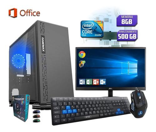 computador pc completo intel 4gb hd 500gb monitor 17 wind 10
