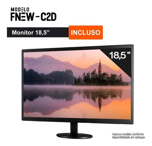 computador pc completo intel 8gb hd 500gb  wifi win10 c/ monitor