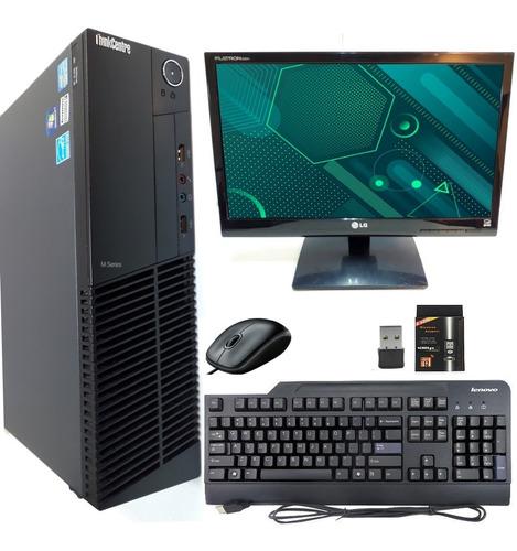 computador pc completo intel i5 4gb hd500 + monitor + brinde