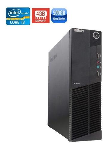 computador pc completo lenovo core i3 8gb hd 500gb + wi-fi