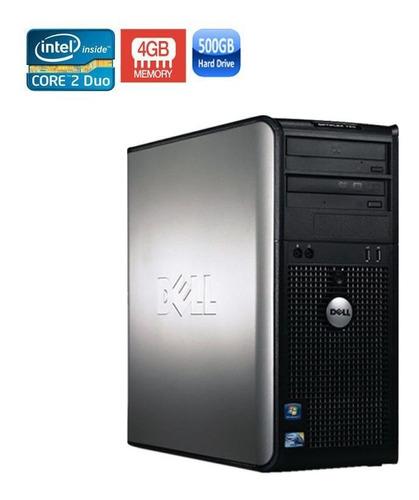 computador pc dell 780 core 2 duo 4gb hd 500gb black friday