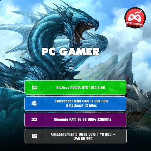 computador pc gamer intel core i7 8700 nvidia gtx 1070