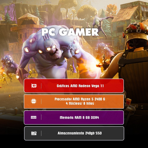 computador pc gamer ryzen 5 3400g quad core 2019 fortnite