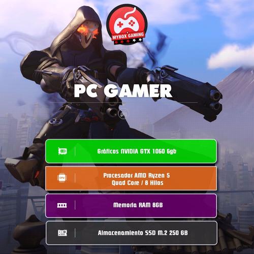 computador pc gamer ryzen 5 - gtx1060 3gb - 8gb ram - ssd