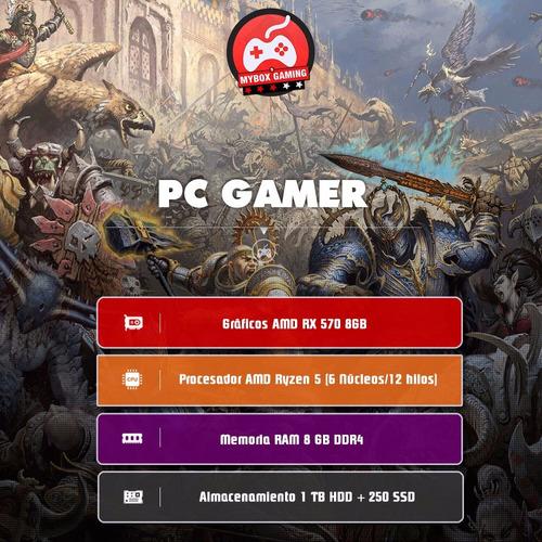 computador pc gamer ryzen 5 - video rx570 8gb - ram 8 - ssd