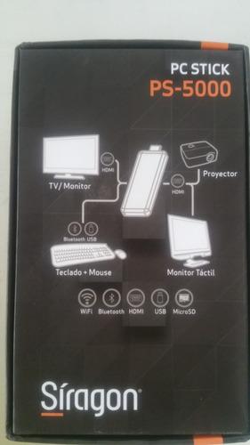 computador- pc-stick ps-5000 siragon incluye teclado y mouse