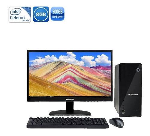 computador positivo stilo ds3415 celeron 8gb hd500gb + wi-fi