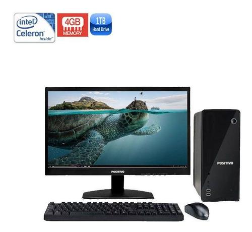 computador positivo stilo dsi3160 celeron 4gb hd 1tb + wi-fi