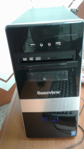 computador soneview, con monitor samsung ultraplano poco uso