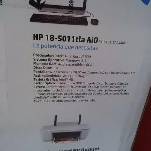 computadora 18  hp todo en uno + envio gratis + impresora