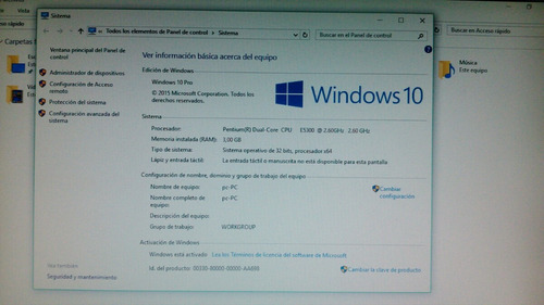 computadora 3gb ram windows 10 wifi