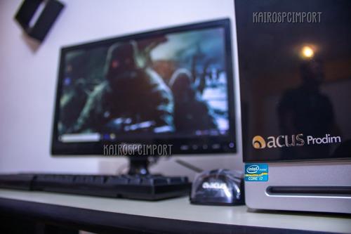 computadora acus core i7 3.40ghz 8gb monitor 19 clase a