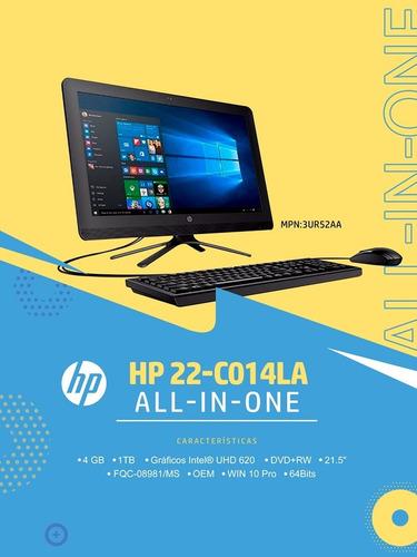 computadora all in one,  hp con win 10 pro nueva