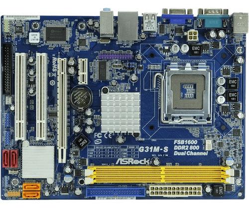 computadora asrock g31 ms pentium dual core 500gb hdd