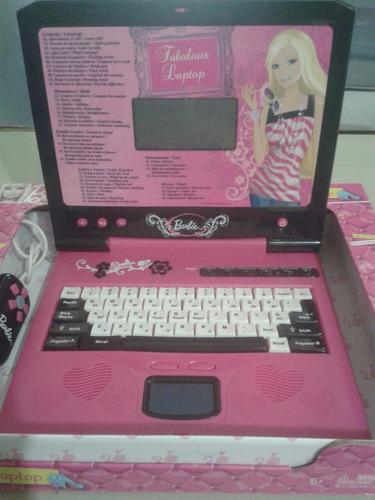 computadora barbie laptop juguete niñas