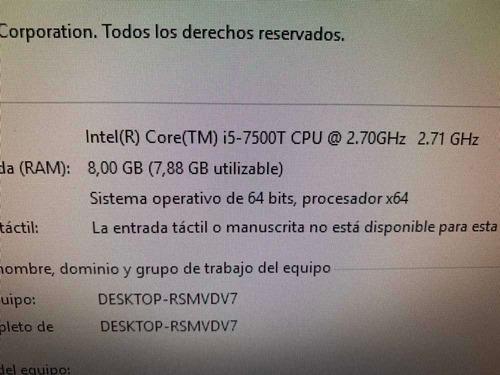 computadora completa core i5, 8gb ram,256gb ssd, cpu hp, lcd