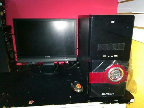 computadora  completa cpu comonuevo  y monitor  somos tienda