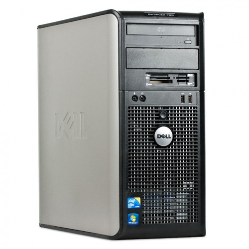 computadora completa cpu core 2 duo monitor 17  hp offic w10