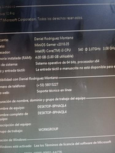 computadora completa cpu core i3 3.07ghz 4gb ram disco 500gb