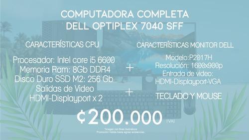 computadora completa dell optiplex 7040 sff