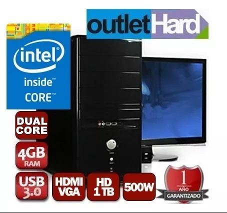 computadora completa dual core 4gb 1tb led 19 hp san miguel