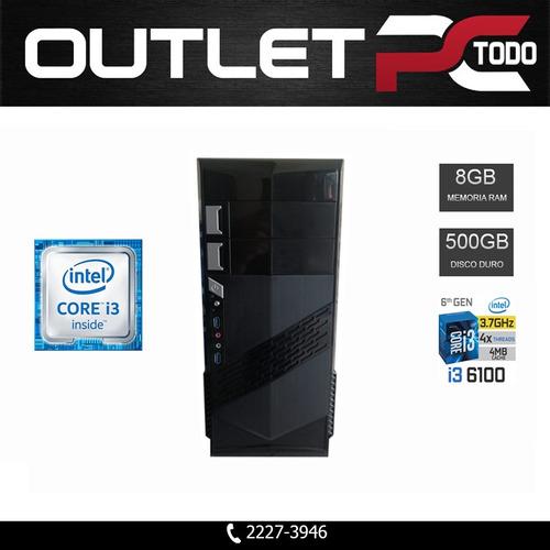 computadora core i3 6100, ram 8gb ddr4, disco 500gb - usado