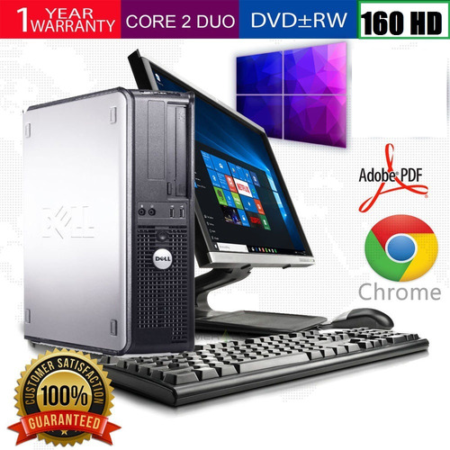 computadora core2duo dell/hp/lenovo 2 gb 250 hd +lcd 16/17