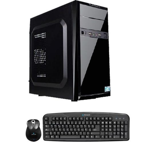 computadora cpu con teclado y mouse
