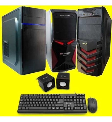 computadora cpu core i3 3.6 8th 1 tera 4gb led 20 dvd writ
