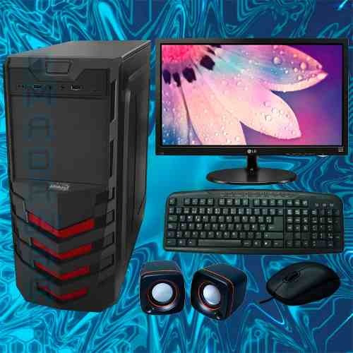 computadora cpu core i3 3.6 8th 2 teras 4gb led 20 dvd writ