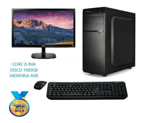 computadora cpu intel core i5 8va gen 1tb 4gb led 20, i7