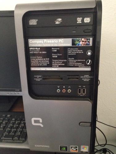 computadora de escritorio compac presario amd 64 memoria 1gb