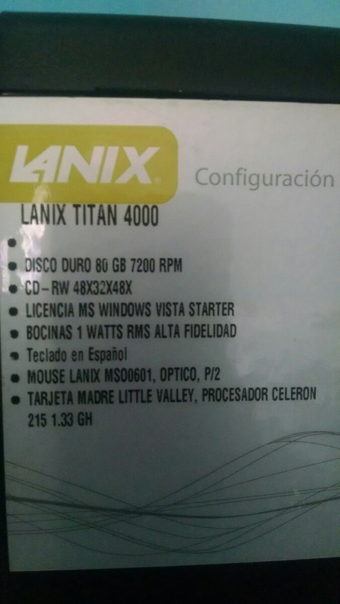 LANIX TITAN 4000 DESCARGAR DRIVER