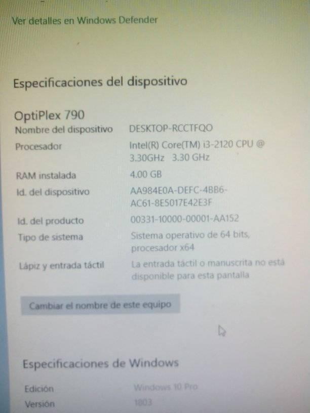 Computadora Dell Optiplex 790 I3 - 2120 3 30 Ghz - $ 4,000 00